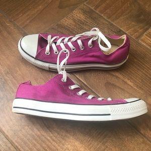 Converse Fushia pink All Star low top sneakers